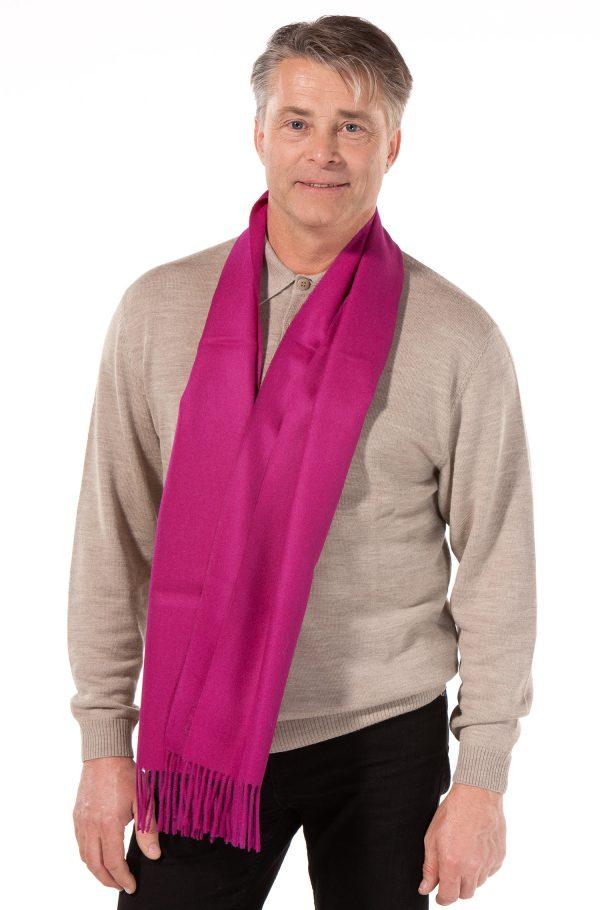 fuchsia roze alpaca wollen shawl