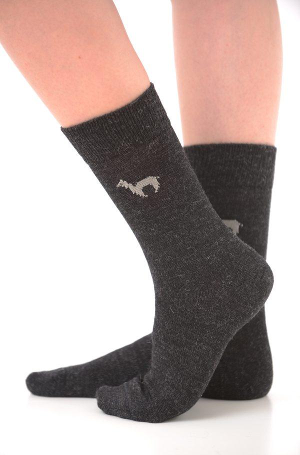 Apu kuntur alpaca sokken donkergrijs