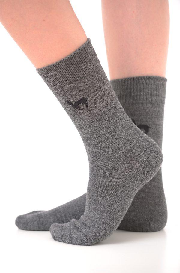 Apu kuntur alpaca sokken grijs