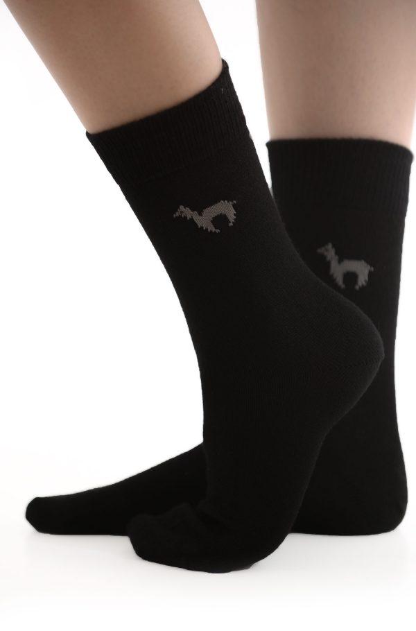 Apu kuntur alpaca sokken zwart