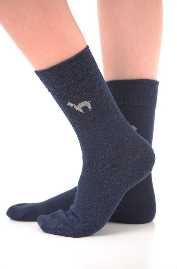 Apu kuntur alpaca sokken donkerblauw