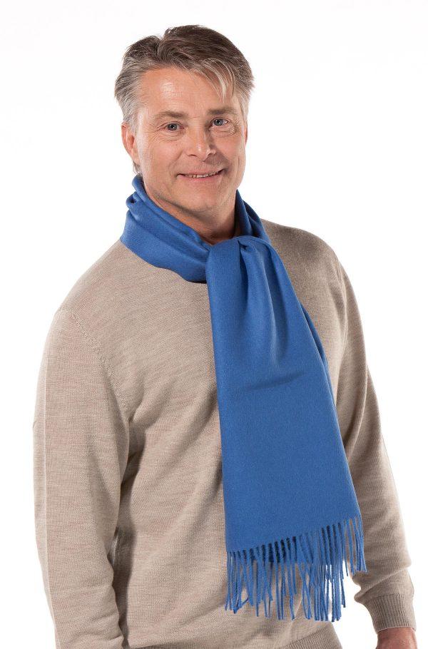 alpaca wollen geweven shawl licht blauw Apu Kuntur