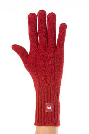 Handschoenen ingebreide kabel alpaca wol thermisch