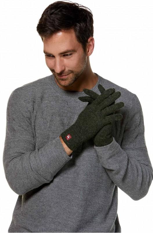 Alpaca wollen handschoenen groen thermisch en winddicht Apu Kuntur