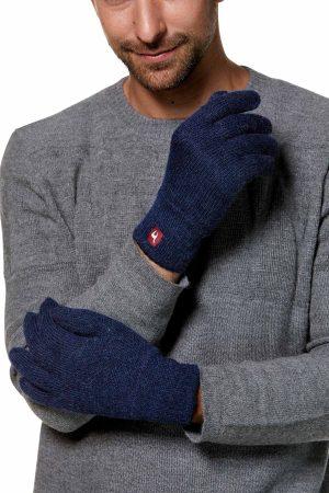 Winddicht gevoerde handschoenen alpaca wol