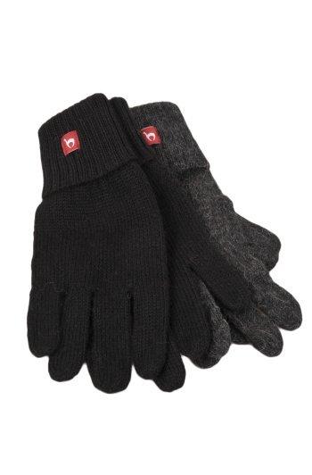 Effen gebreide handschoenen alpaca wol