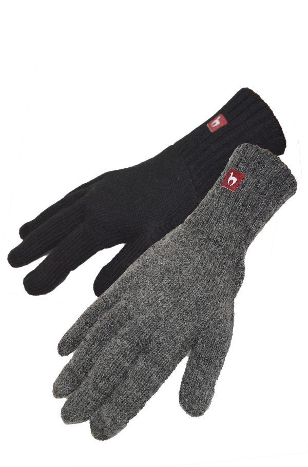 Effen handschoenen heren gevoerd fleece alpaca wol