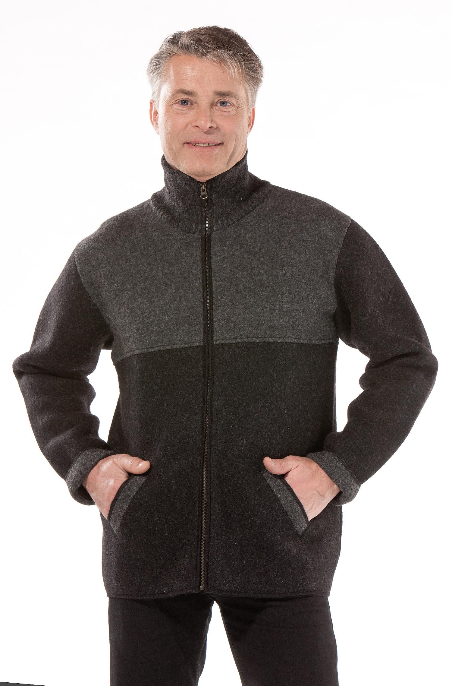 Verrassend Gevilte heren vestjas grijs - Alpaca Fashion UV-09