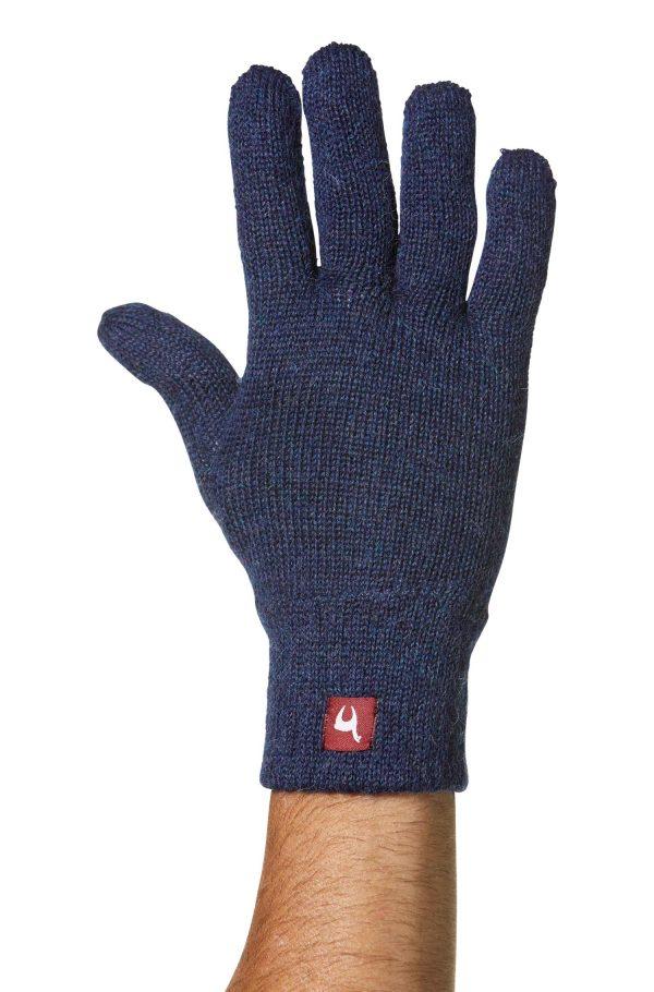 Winddicht en thermisch warme handschoenen alpaca wol blauw
