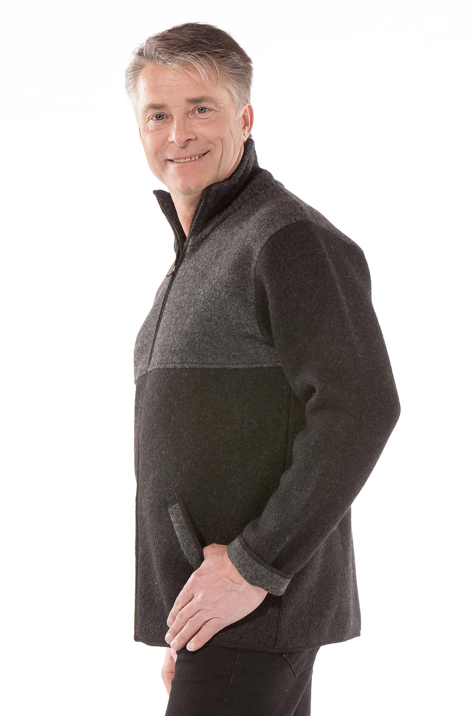 Hedendaags Gevilte heren vestjas grijs - Alpaca Fashion HM-29