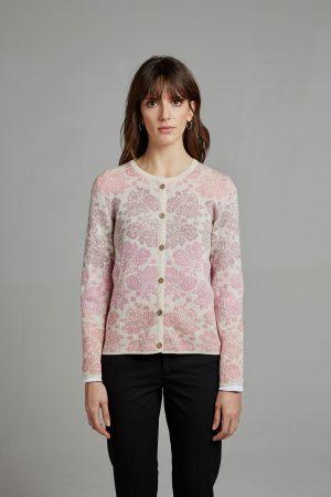 Manuela Bedford roze gebloemd vestje rose