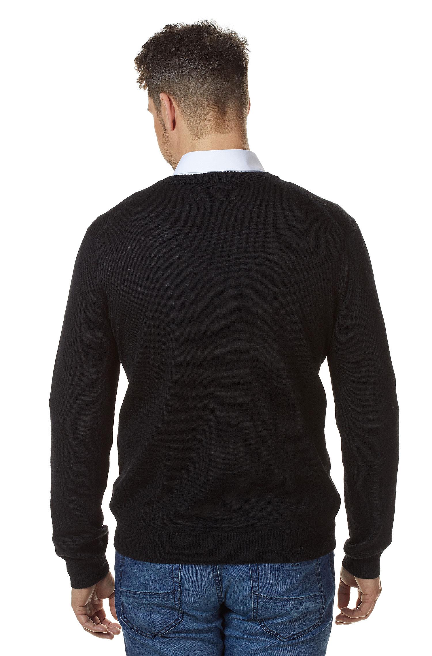 Zwarte Heren Trui.Heren Trui Zwart Alpaca Wol Alpaca Fashion