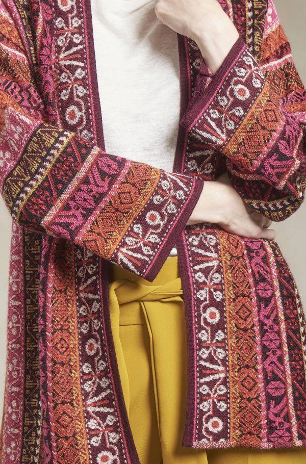 Dames vest alpaca wol etnisch peruaans motief
