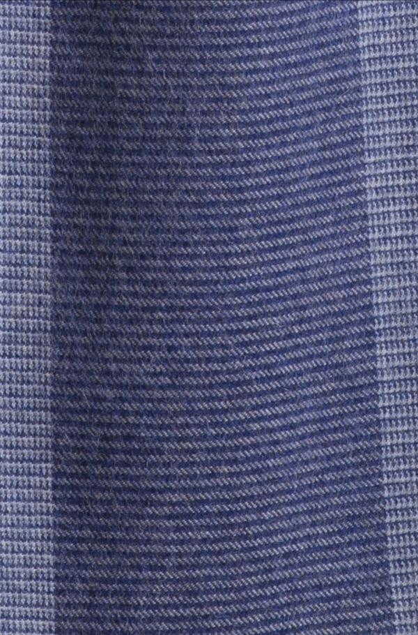 Blauw geruite sjaal alpaca wol KUNA