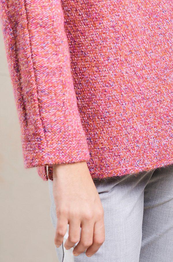Alpaca wollen dames pullover boothals gemengde wol kleurrijk
