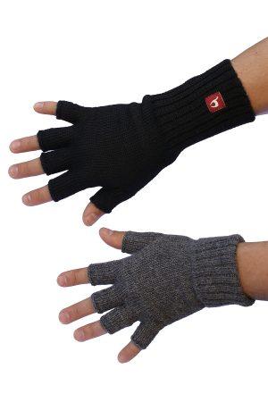 Halve vingers handschoenen van alpaca wol Apu Kuntur