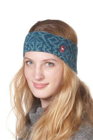 Alpaca wollen hoofdband turquoise blauw Apu Kuntur