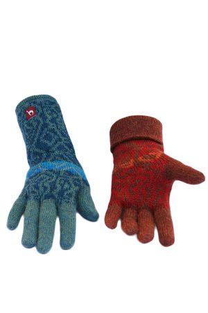Alpaca wollen dames handschoenen met lang manchet