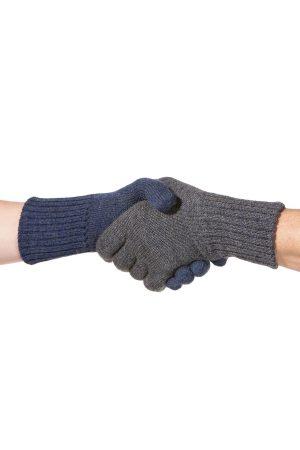 Omkeerbare handschoenen dubbel gebreid alpaca wol