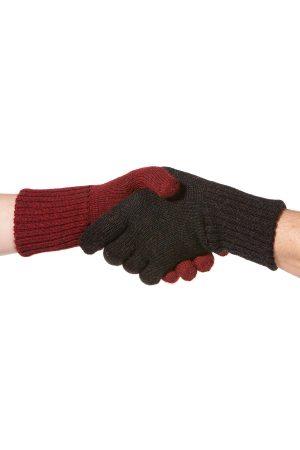 dubbel gebreide handschoenen omkeerbaar alpaca