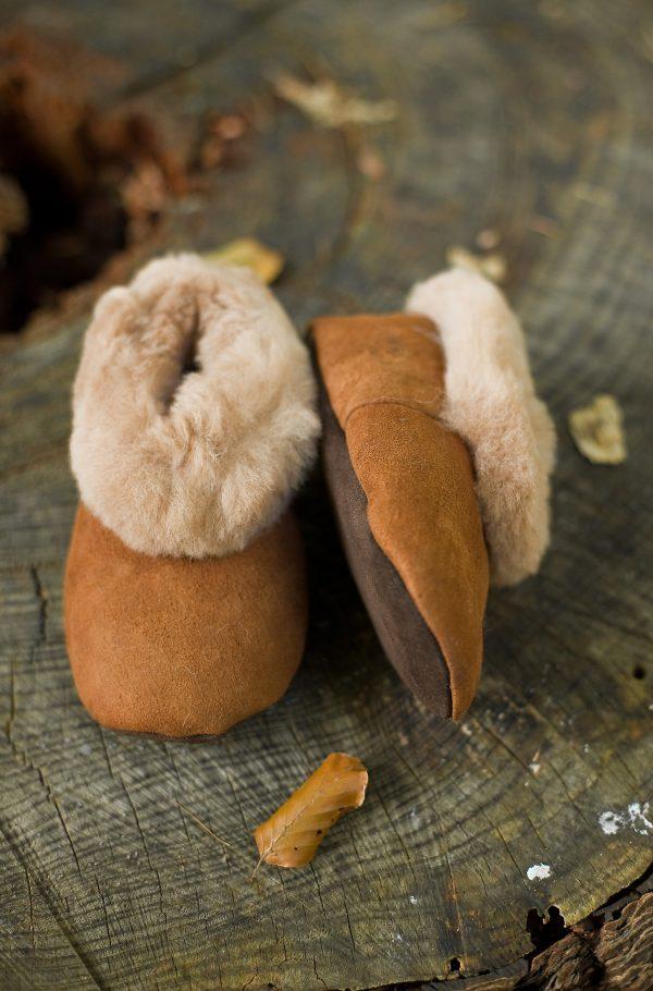 Alpaca bont pantoffels voor kinderen met schapen wol vacht