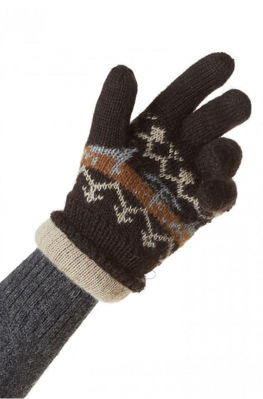 Alpaca wollen handschoenen gebreid Noors motief